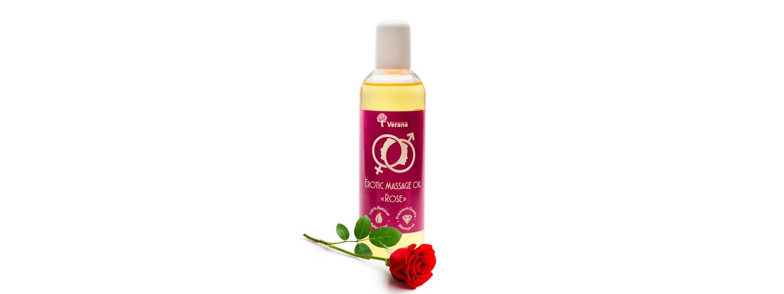 Масло для эротического  массажа «Роза»